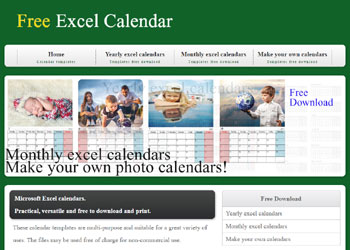 Excel Calendar Template - Free Download
